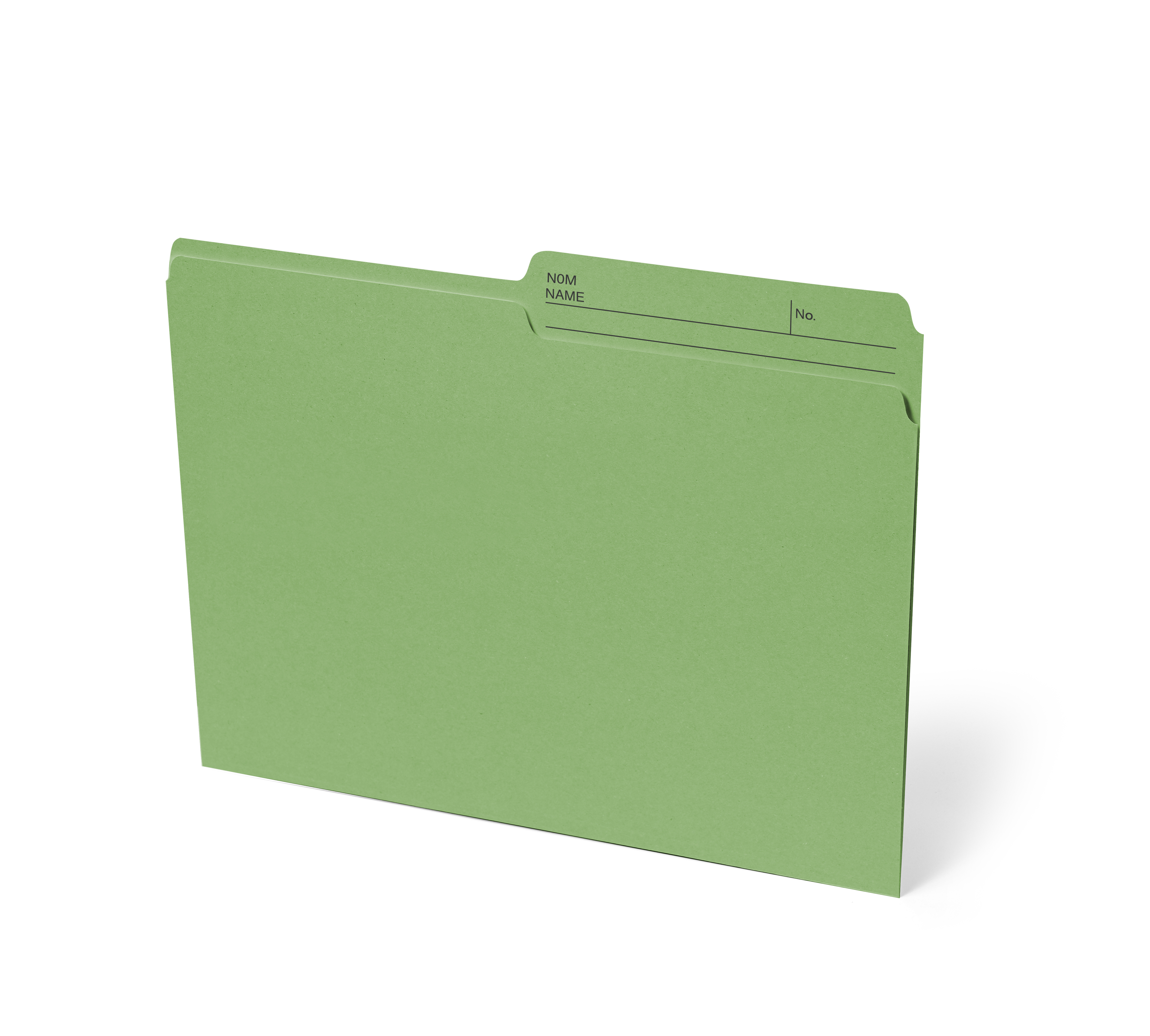 Chemises dossiers taille lettre onglet demi coupe - Couleur complementaire vert ...